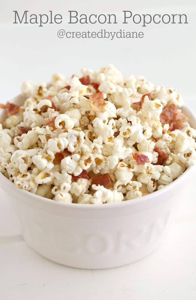 maple bacon popcorn sweet and savory @createdbydiane
