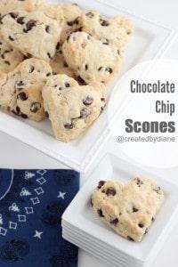 Chocolate Chip Scones @createdbydiane