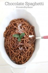 Chocolate Spaghetti Recipe @createdbydiane