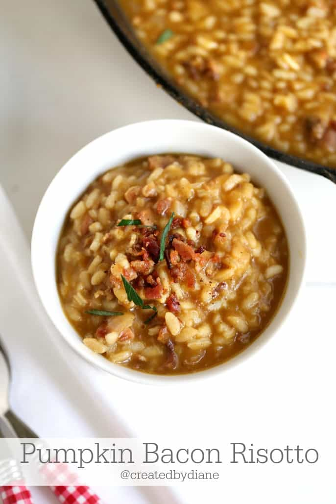 Pumpkin Bacon Risotto @createdbydiane