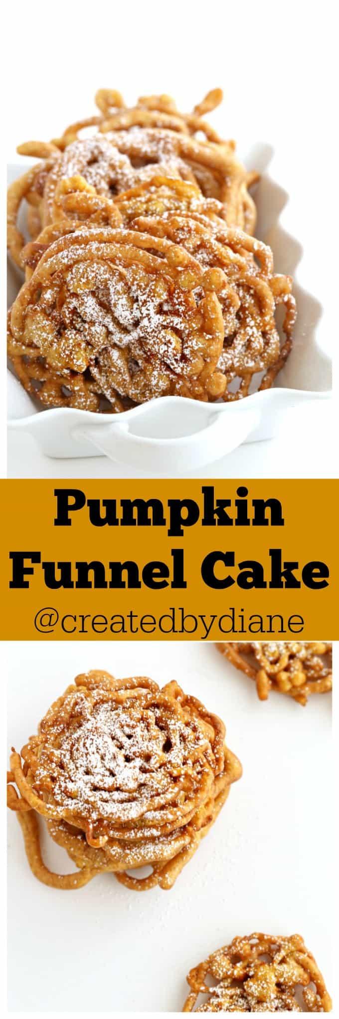 Pumpkin Funnel Cake @createdbydiane