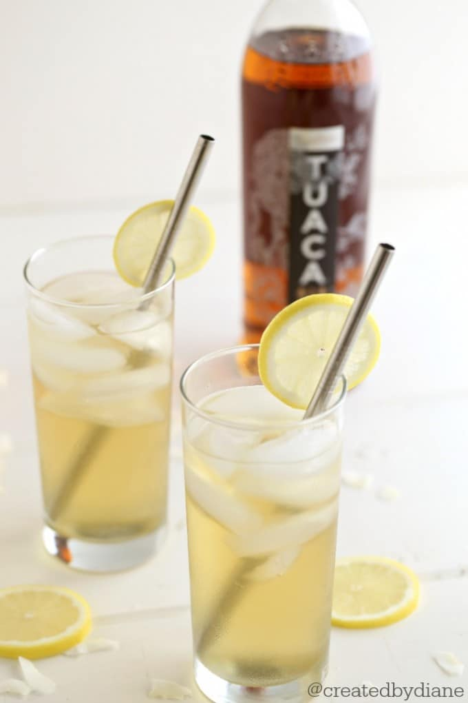 lemon vanilla liquor with lemon vodka makes a super delicious cocktail @createdbydiane