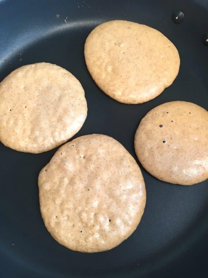 making pumpkin pancakes @createdbydiane