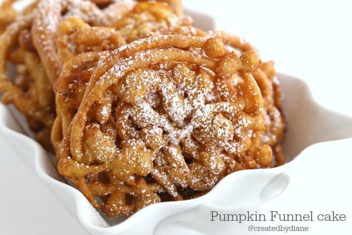 pumpkin funnel cake recipe @createdbydiane