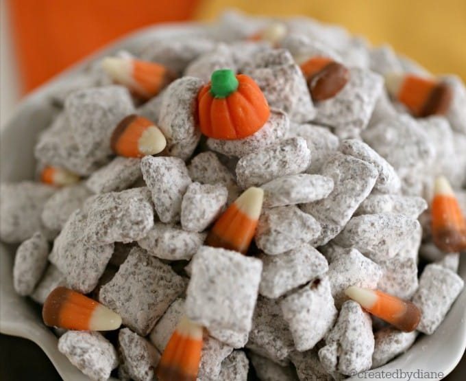 pumpkin pie spice muddy buddy puppy chow mix @createdbydiane