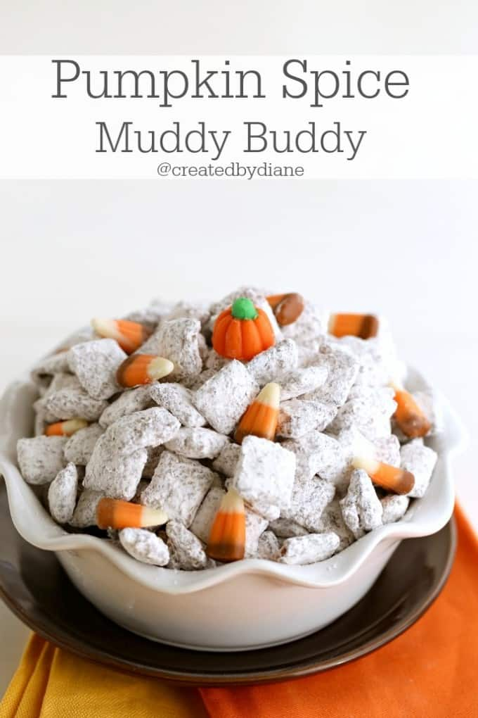 pumpkin spice muddy buddy recipe from @createdbydiane