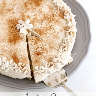 Apple Cinnamon No Bake Cheesecake