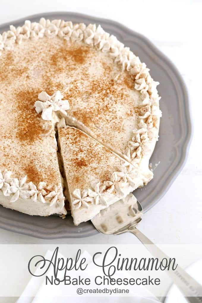 Apple Cinnamon no bake CHEESECAKE @createdbydiane