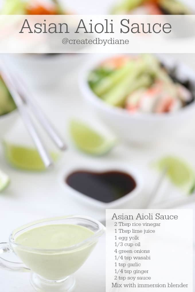 Asian Aioli Sauce Recipe from @createdbydiane