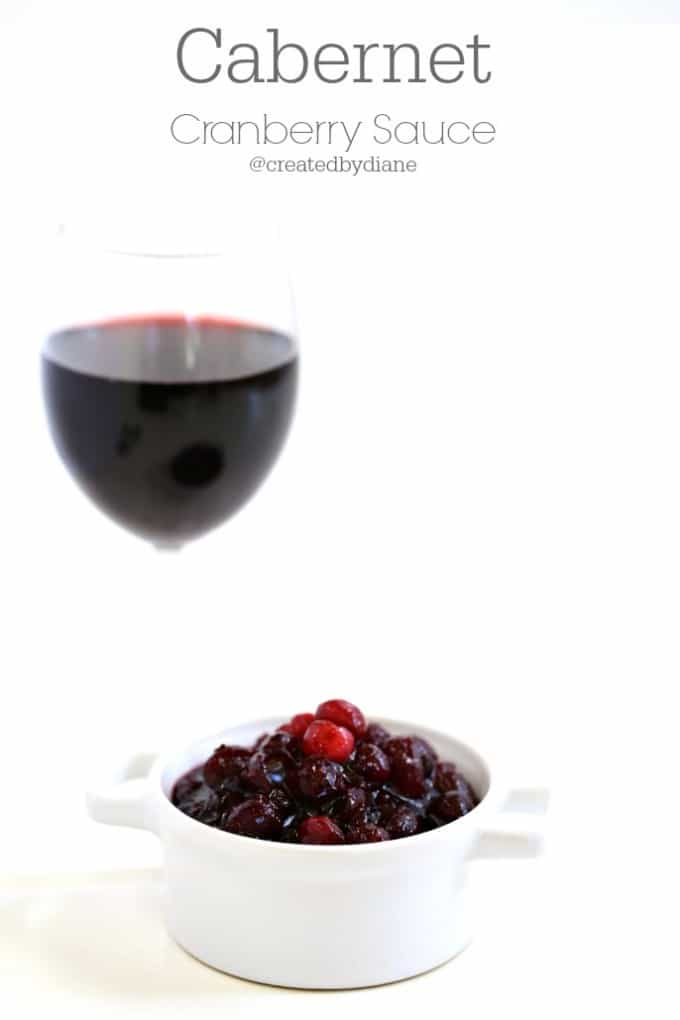 Cabernet Cranberry Sauce @createdbydiane
