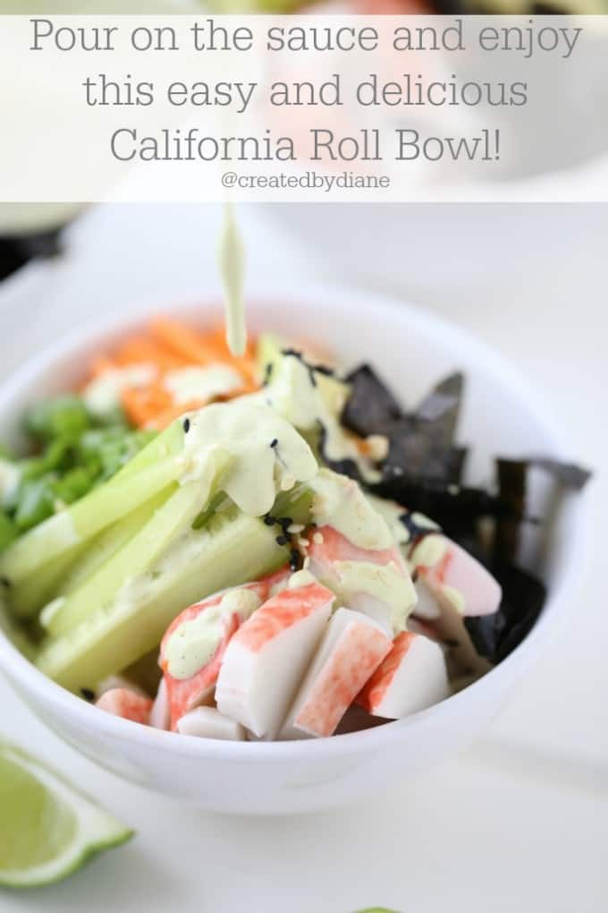 Cali Roll Bowl with Asian Aioli Sauce @createdbydiane