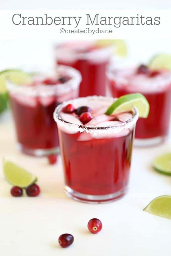 Cranberry Margaritas from @createdbydiane