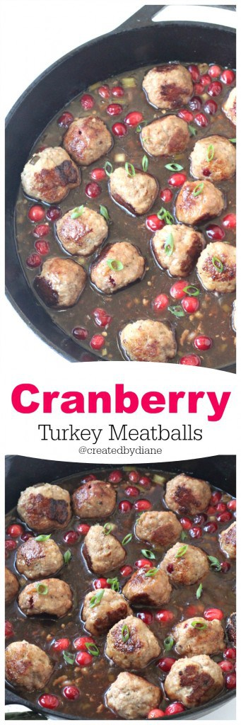 Cranberry Turkey Meatballs @createdbydiane