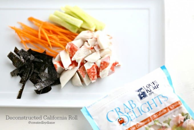 Deconstructed California Roll @createdbydiabe