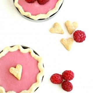 Raspberry Cheesecake Pies