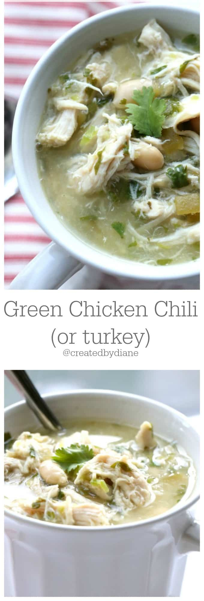 Green Chicken (or turkey) Chili @createdbydiane