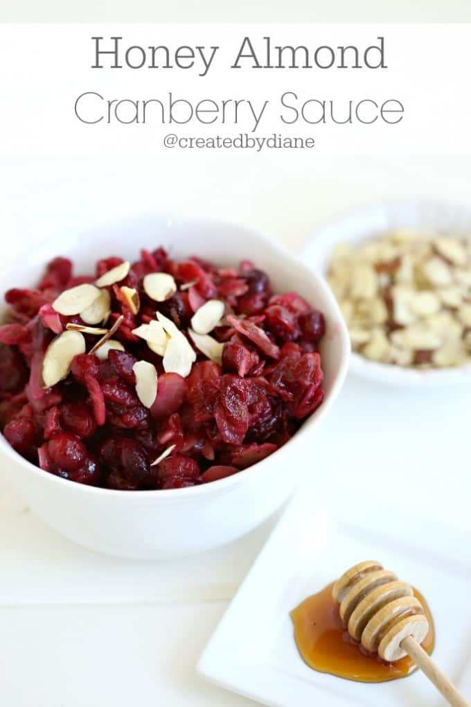Honey Almond Cranberry Sauce @createdbydiane