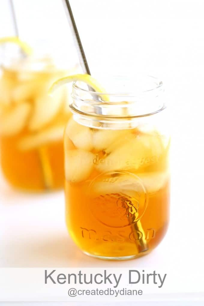 Kentucky Dirty Cocktail (peach iced tea drink) @createdbydiane