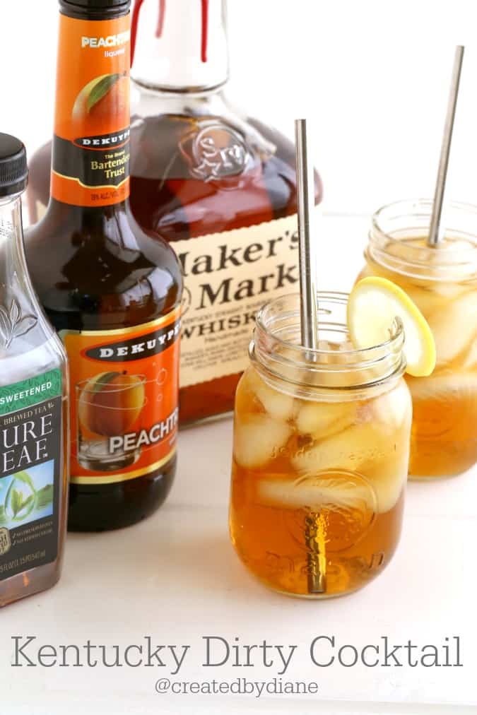 Kentucky Dirty, peach iced tea cocktail @createdbydiane