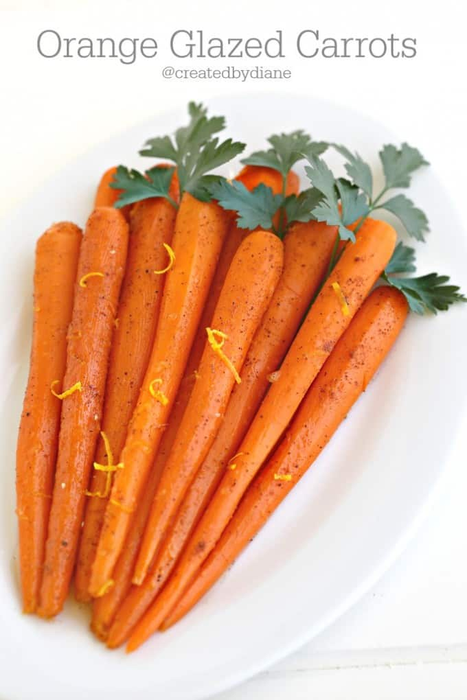 Orange Glazed Carrots from @createdbydiane