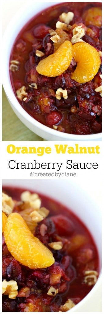 Orange Walnut Cranberry Sauce @createdbydiane