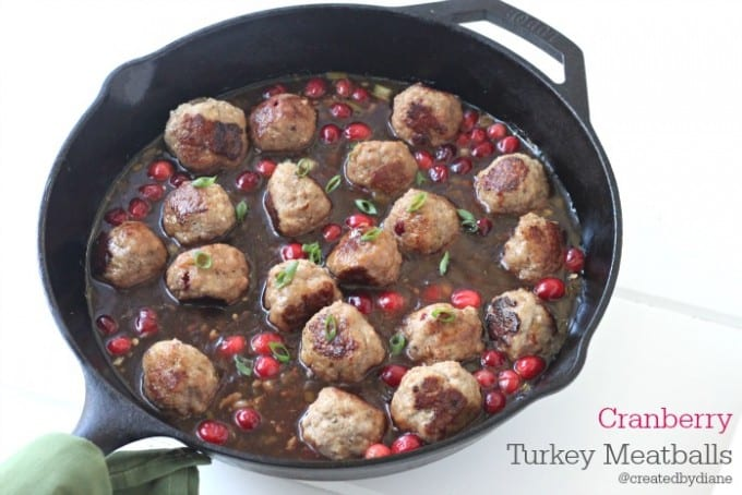 cranberry turkey meatballs from @createdbydiane