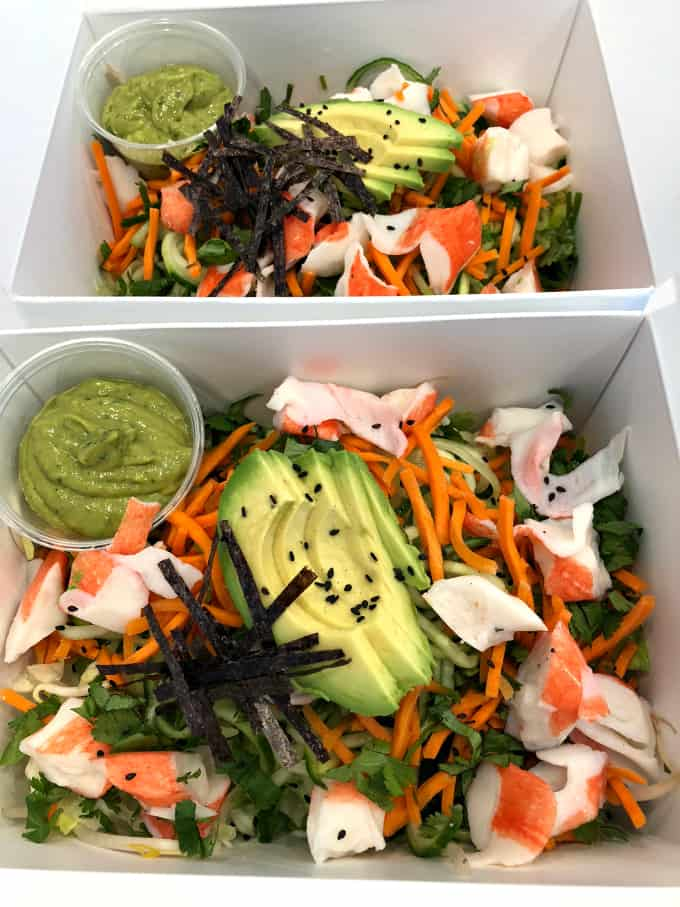 deconstructed California Roll Bowls, no rice, low carb, sushi, homemade, real food www.createdbydiane.com