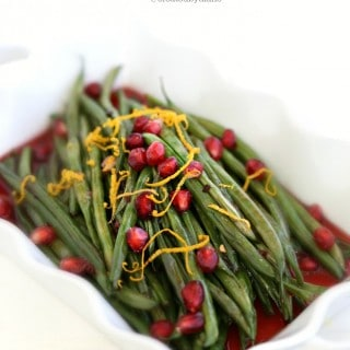 Green Beans with Pomegranate Sauce