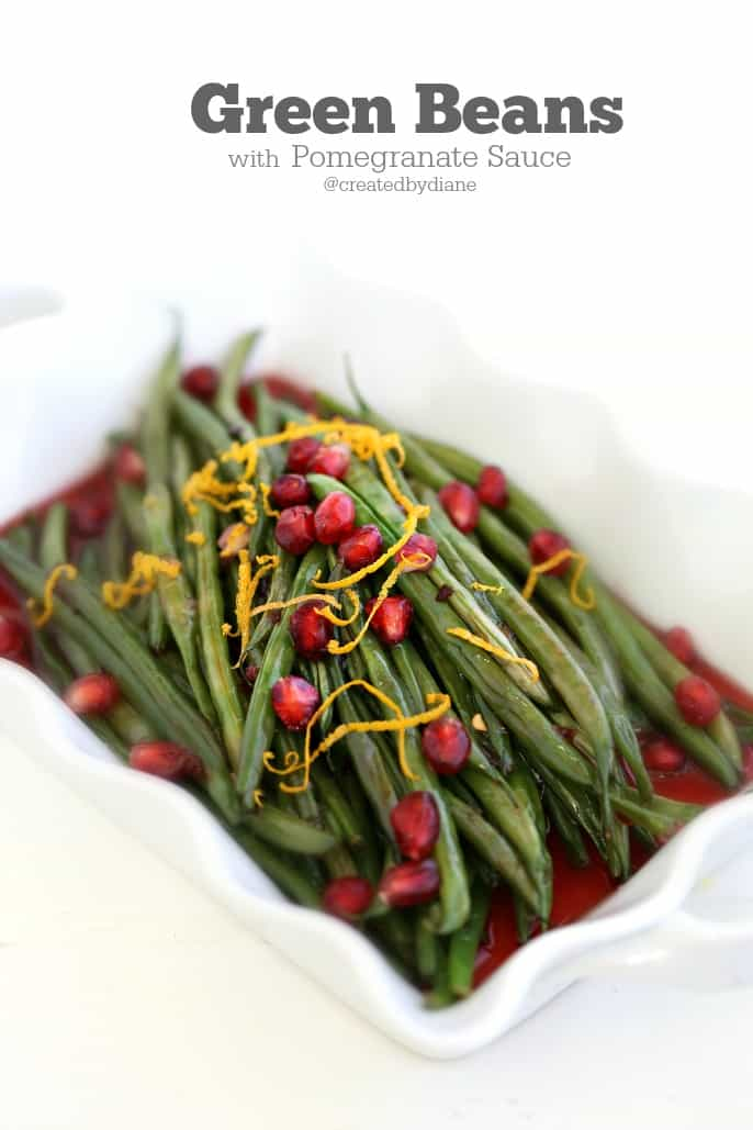 delicious green beans with pomegranate sauce @createdbydiane