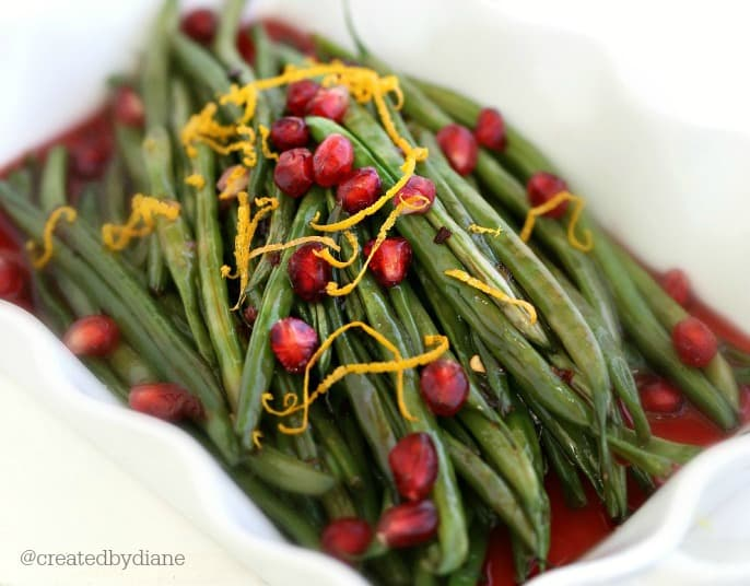 pretty green beans with pomegranate sauce @createdbydiane