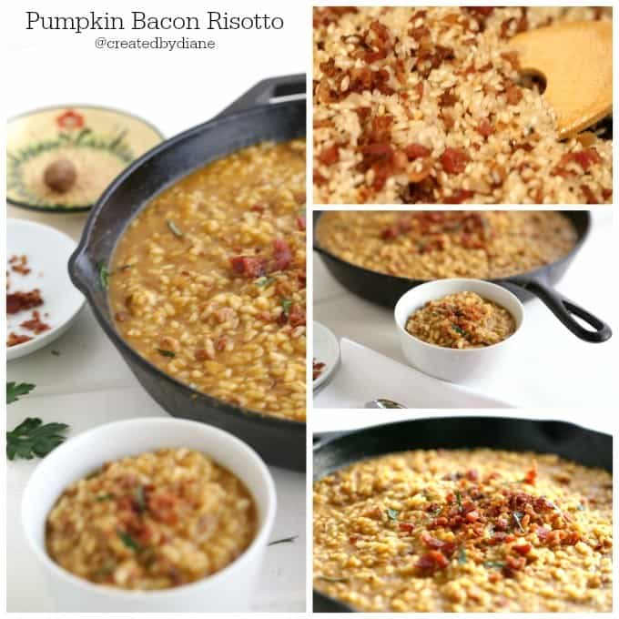 pumpkin bacon risotto recipe deliciously comforting @createdbydiane