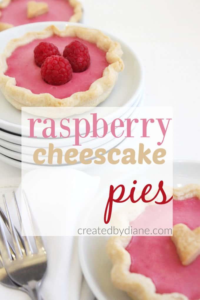 raspberry cheesecake mini pies createdbydiane.com
