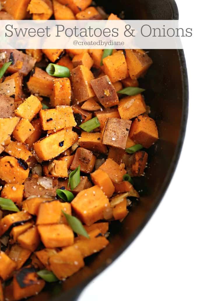 sweet potatoes and onions @createdbydiane