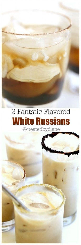 3 fantastic flavored White Russians @createdbydiane