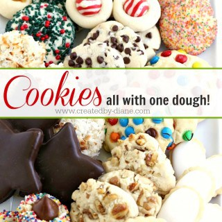Cookies… all with ONE dough