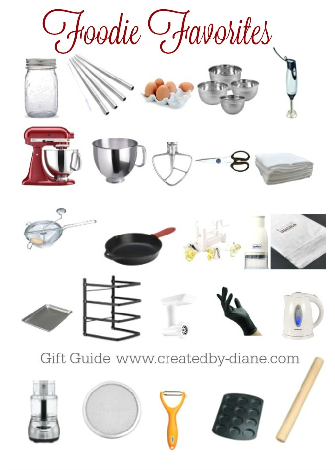 foodie favorites a gift guide for anyone who loves food @createdbydiane kitchen gift guide for wedding, bridal shower, Mothers Day, Birthday, Holiday and more.