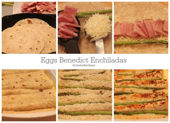 making eggs benedict enchiladas @createdbydiane