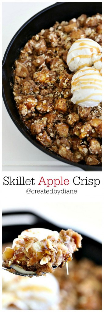 skillet apple crisp recipe from @createdbydiane