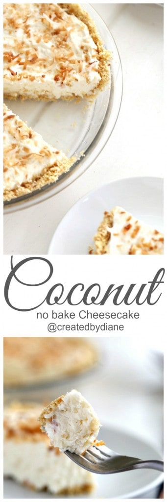 Coconut no bake cheesecake yummy! @createdbydiane