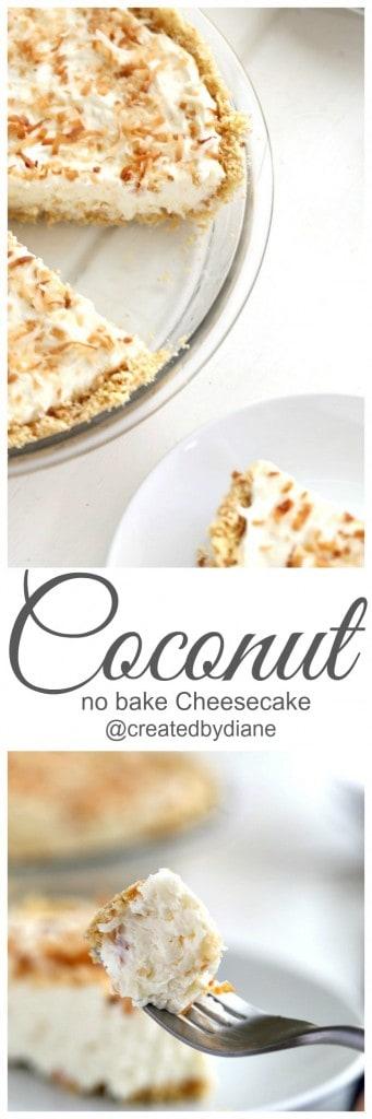 Coconut no bake cheesecake yummy! @createdbydiane