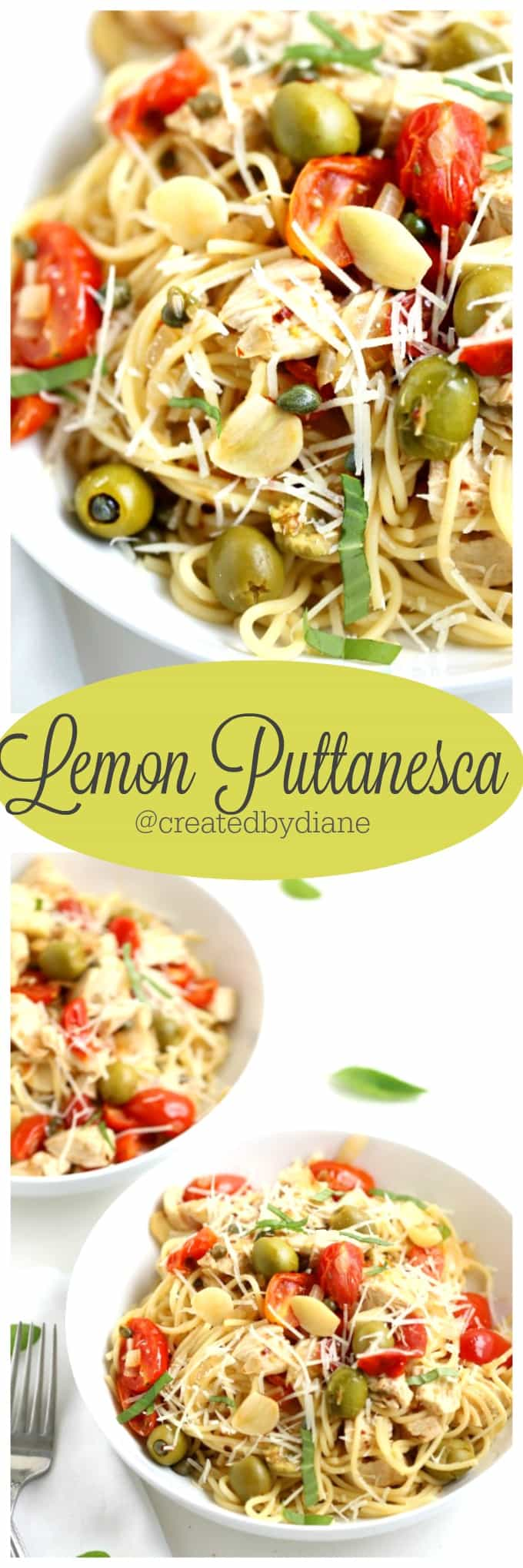 Lemon Puttanesca recipe from @createdbydiane