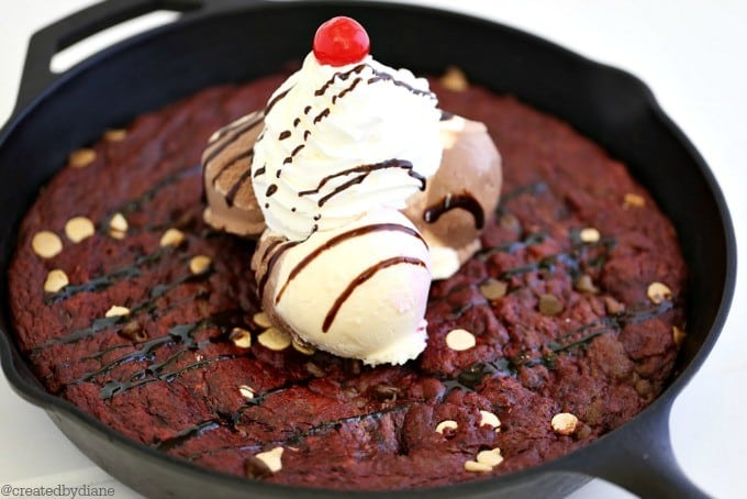 Red Velvet Skillet Cookie from @createdbydiane