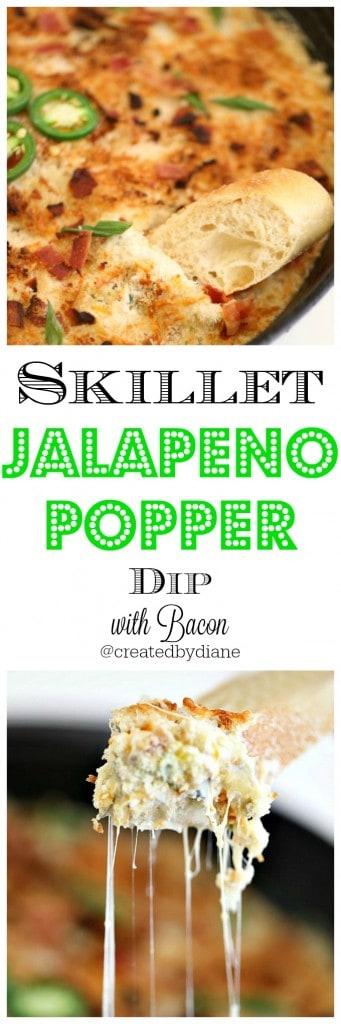 skillet jalapeno popper dip recipe from @createdbydiane