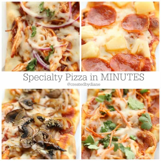 creative pizza recipes that are ready in MINTUES