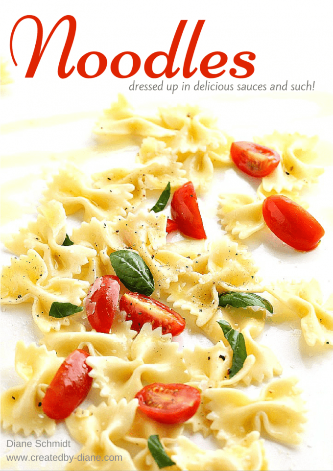Noodles recipes dressed in delicious sauces and such @createdbydiane