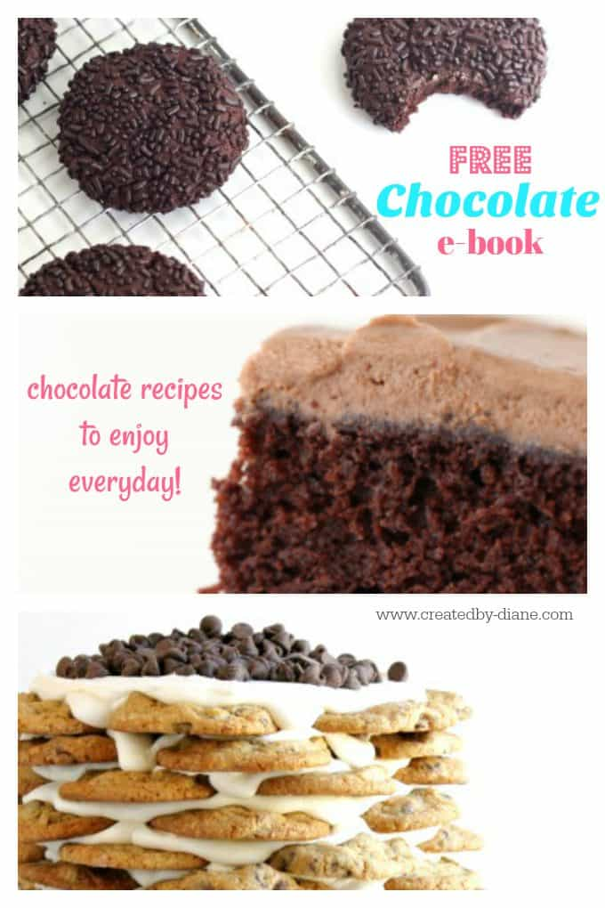 chocolate ebook free you'll love these recipes and there are chocolate recipes to enjoy for every meal @createdbydiane