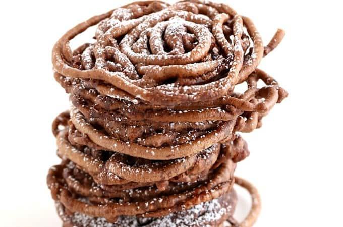 chocolate funnel cake @createdbydiane