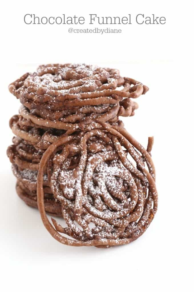homemade chocolate funnel cake recipe