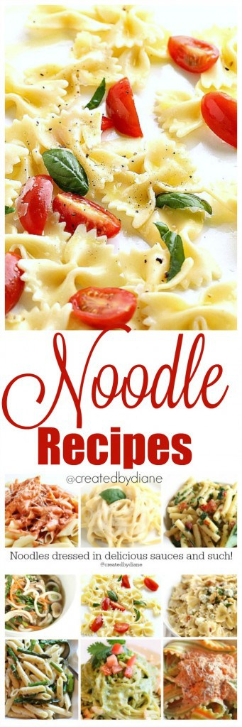 noodle recipes from @createdbydiane