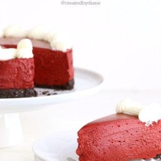 Red Velvet no bake Cheesecake